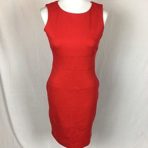 Calvin Klein, red sheath dress, size 4